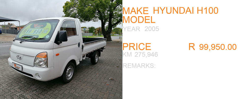 2005 HYUNDAI H100 - KM 275,946