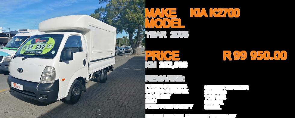 2005 KIA K2700  - KM332,988
