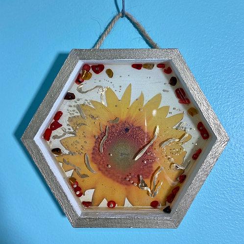 Golden Sunflower Wall Hanging