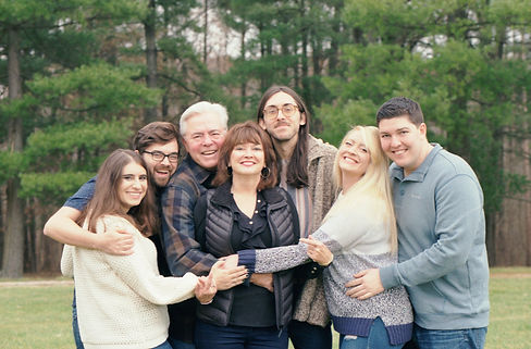 adult family hugging