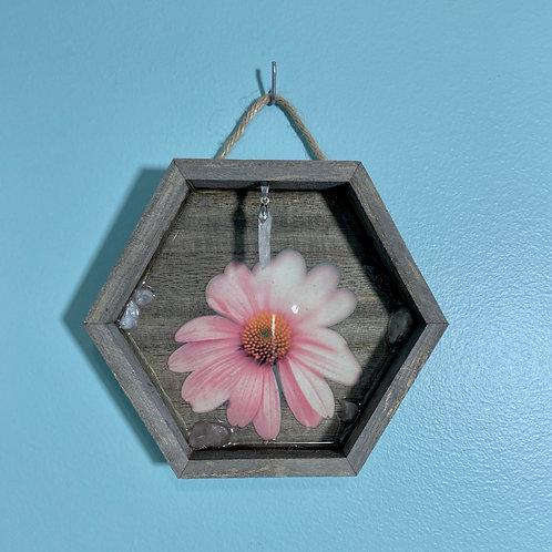 Rose Quartz Floral Wall Hanging