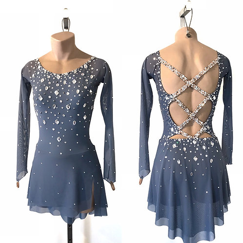 """""""LISA"""" - WITH SLEEVES EXCLUSIVELY CRYSTALLED"""