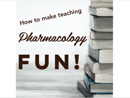 Next PPC: How to make teaching Pharmacology fun with Tony Guerra!