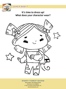 Gamer Baby: Role-Playing Games coloring sheets