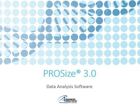 Em parceria com a Advanced Analytical anunciamos a nova versão do PROSize®