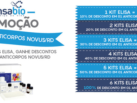 Promoção Kits Elisa e Anticorpos Novus/R&D