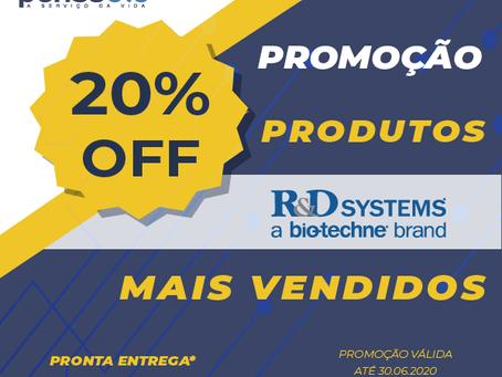 Produtos R&D mais vendidos!
