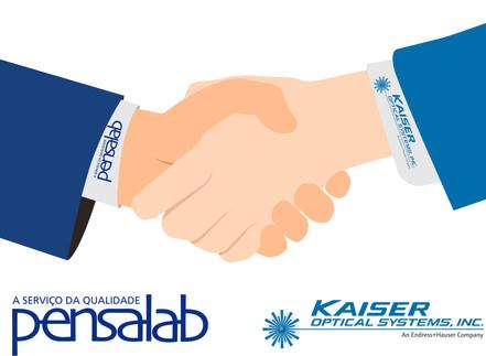 Nova Parceria Pensalab com a Kaiser Optical Systems INC