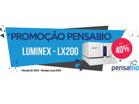 Promoção Pensabio ganhe até 40% de desconto na compra do sistema Luminex-LX200