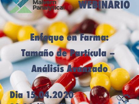 """Webinário: """"Enfoque en Farma: Tamaño de Partícula – Análisis Avanzado"""""""