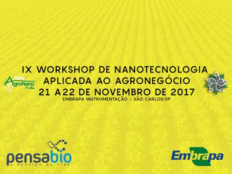 IX Workshop de Nanotecnologia Aplicada ao Agronegócio