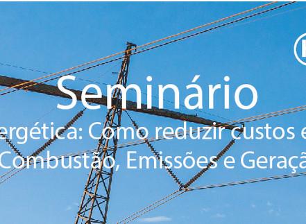 Seminário Eficiência Energética: Como reduzir custos em processos  envolvendo Combustão, Emissões e