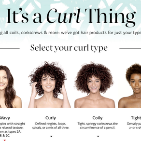 Celebrating healthy and happy coils, waves, zigzags, spirals and bouncy hair.
