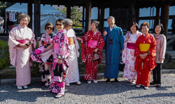 Japan - Japanese People in Traditional Costumes