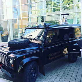 Land Rover Defender Pizza Van