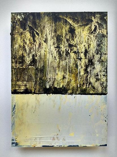 'Walking stone' Acrylic on board 13 x 18cm