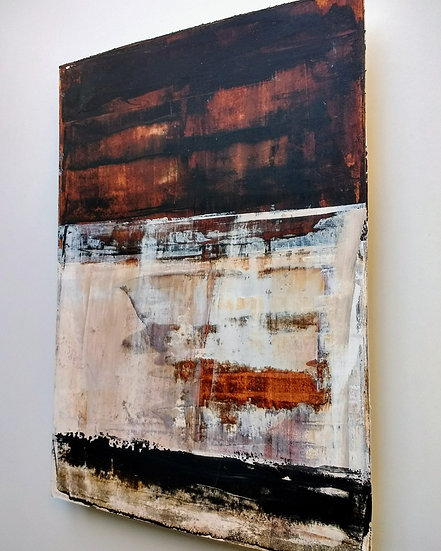 'Cold Wall' Acrylic on board 30 x 42cm 2018