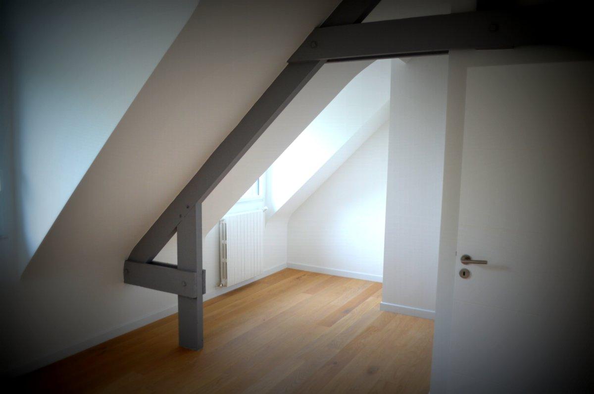Vue d'une des chambres des l'étage
