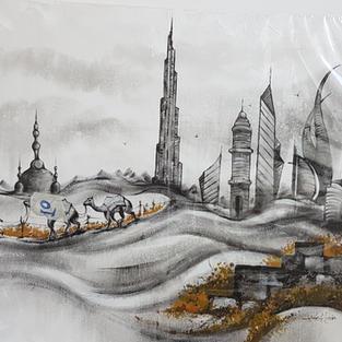 Arabian Camel: Emerging Urban Beauty