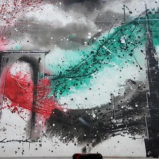 The UAE flag: Emerging Urban Beauty