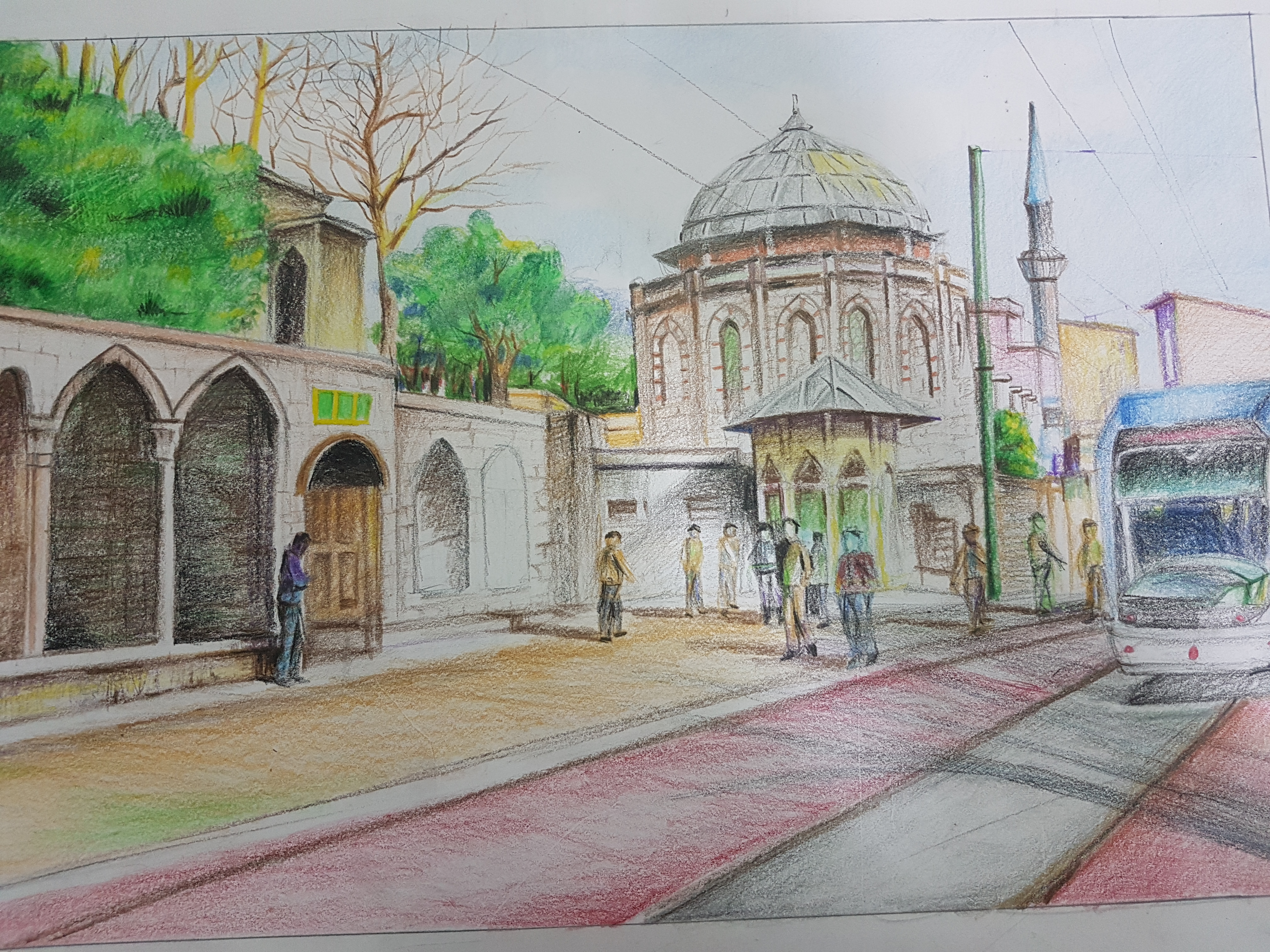 Perspective in Colour Pencil