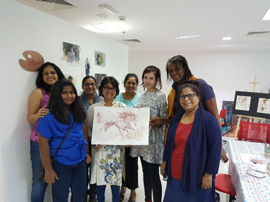 Wine Painting Workshop by Sanja Jankovic in collaboration with Palette Dubai
