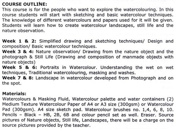 Watercolour for beginners (Palette Dubai)