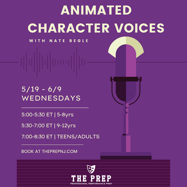 Animated Character Voices w/ Nate Begle