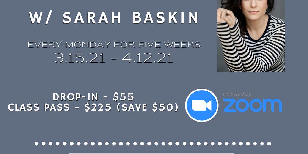 Acting with Sarah Baskin
