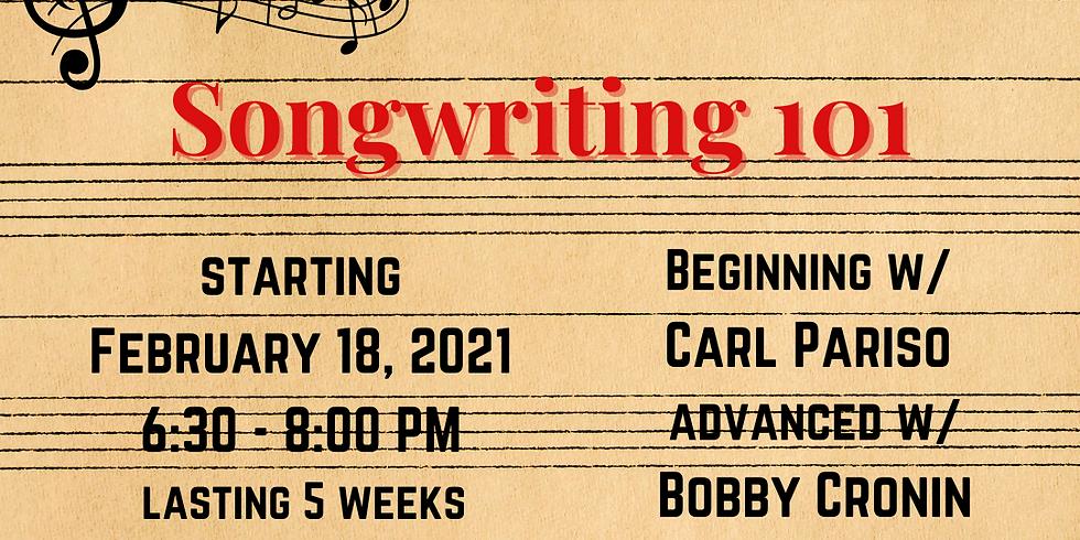 Songwriting 101 | 5-Week Intensive 2/18 - 3/18