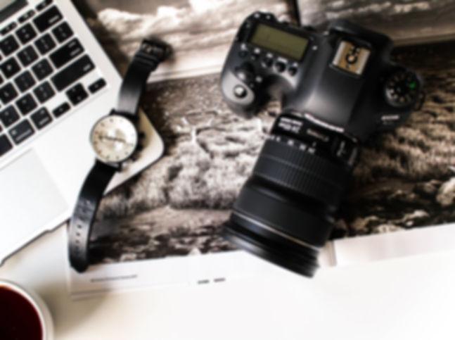 Camera Flat Lay