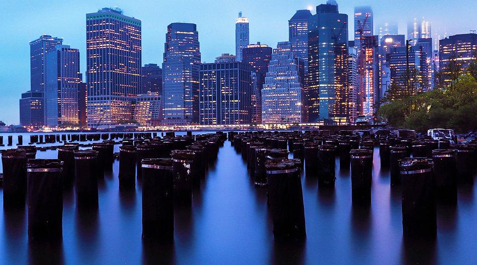New York Skyleline Blue