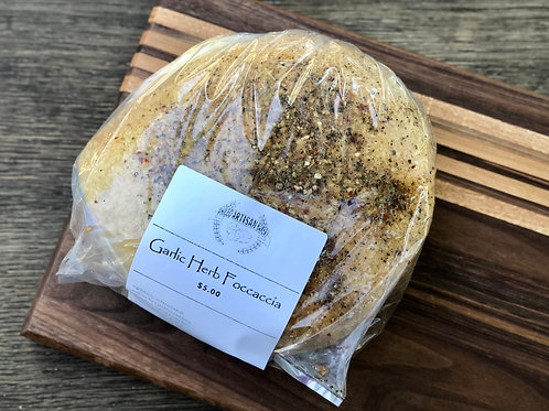 Garlic Herb Focaccia Bread - Phileo Artisan Bakery