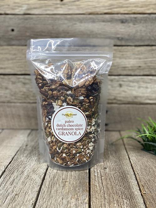 Dutch Chocolate Cardamom Spice Granola - PALEO - Purely Sweet Bakery
