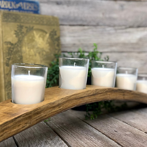 Votive Candle Holders - Wine/Whiskey Barrel