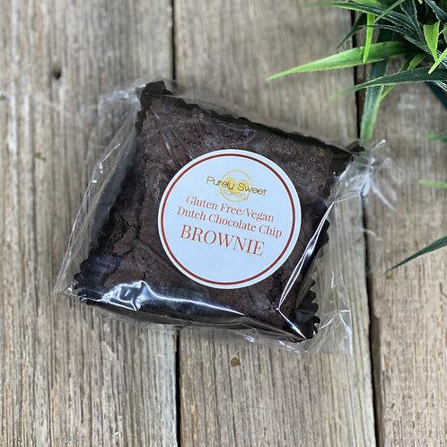Dutch Chocolate Chip Brownie - GLUTEN FREE / VEGAN - Purely Sweet Bakery