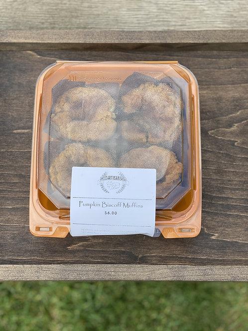 Pumpkin Biscoff Muffins (4 Pack) - Phileo Artisan Bakery
