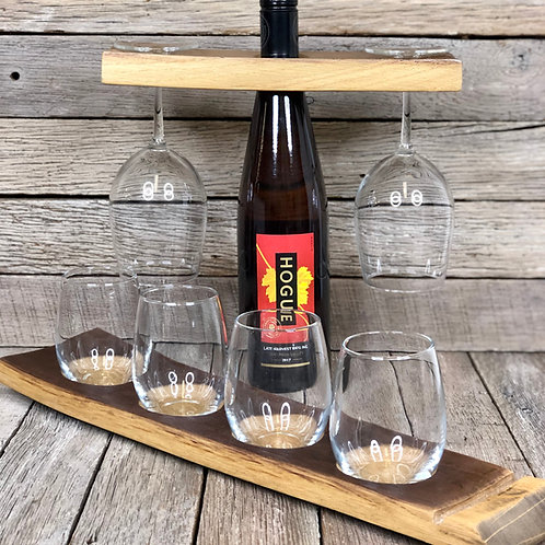 Wine Glass Caddies and Flights - Wine Barrel
