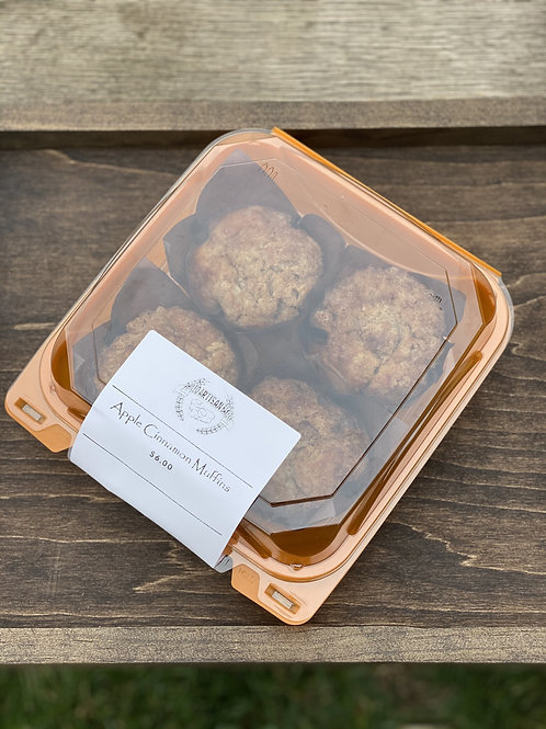 Apple Cinnamon Muffins (4 Pack) - Phileo Artisan Bakery