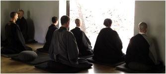 Meditación zazen en Shorin ji