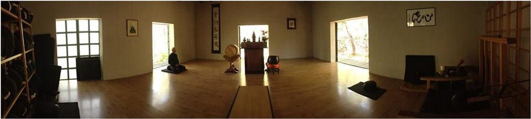 Zendo del templo zen de Shorin ji