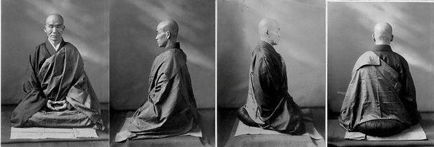"""""""Postura de zazen"""" Maestro zen Kodo Sawaki (Japón)"""