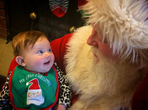 Santa Christmas Eve Visit