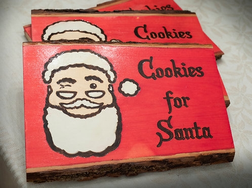 """Cookies for Santa"" Wood Board"