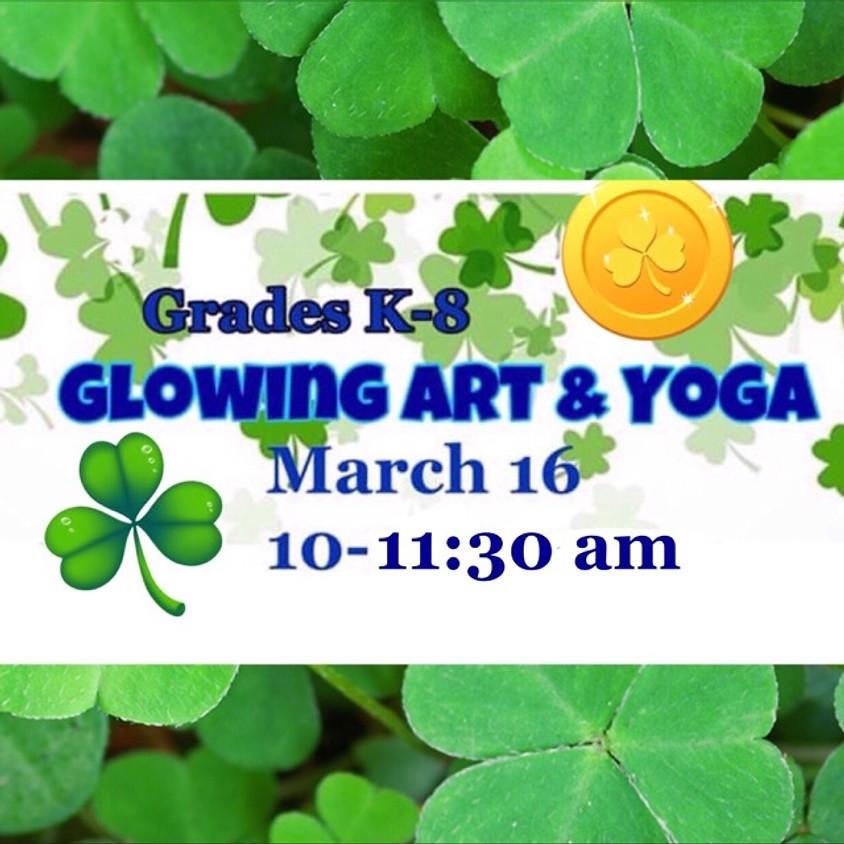 St. Patty's Day Glowing Art & Yoga
