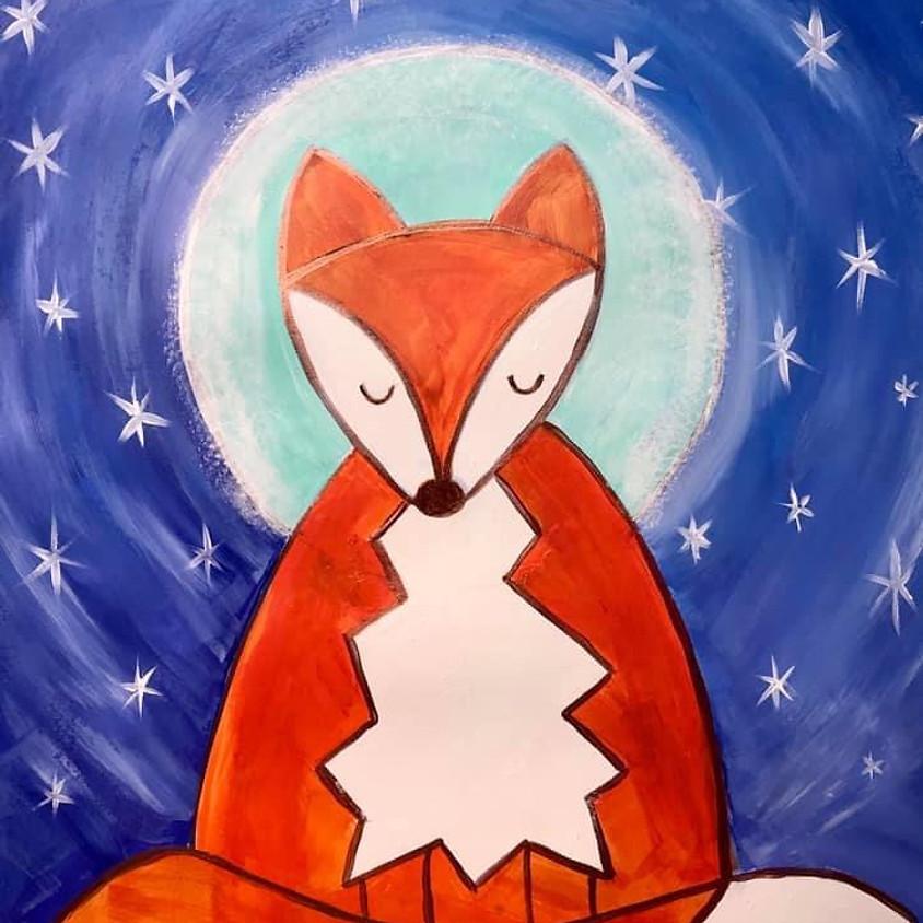 Winter Fox painting Workshop!