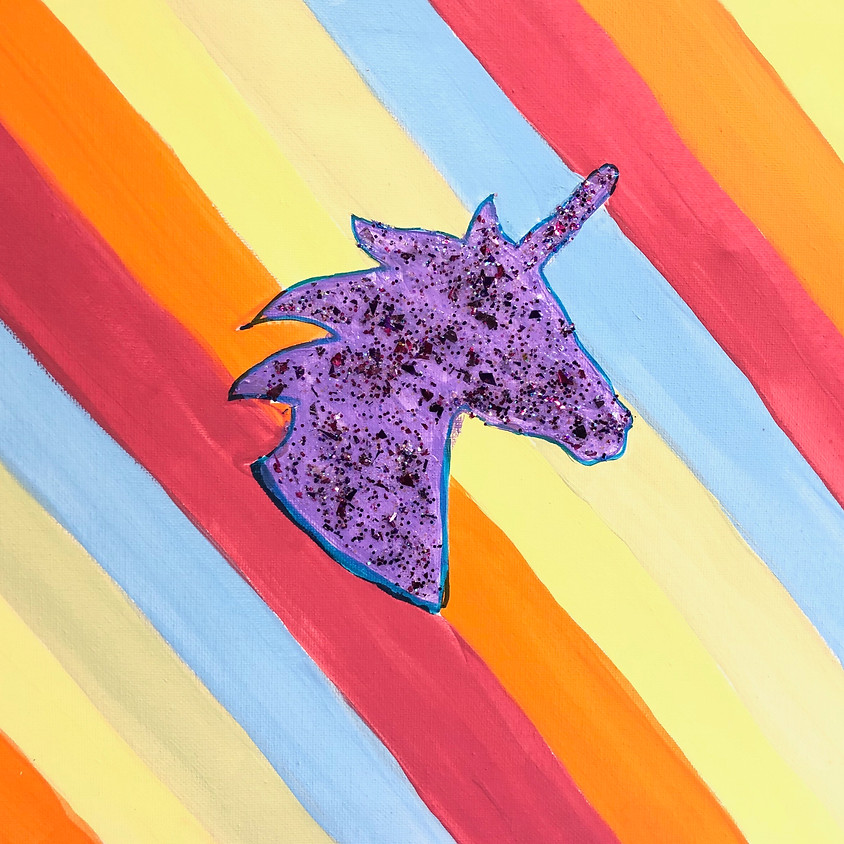 Unicorns, Rainbows & a story!  Painting workshop for All Ages
