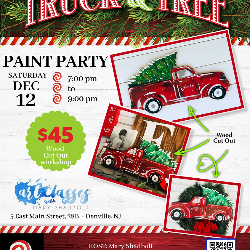 Truck and Tree Paint Night!