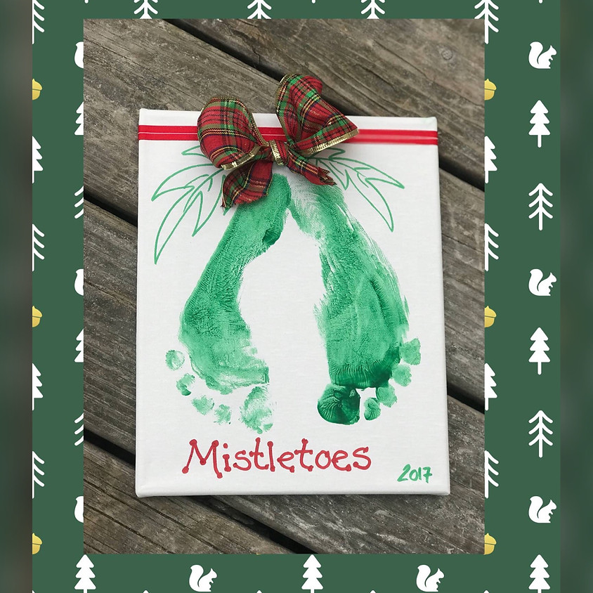 "Mommy & Me ""Mistletoes"" on canvas Workshop!"
