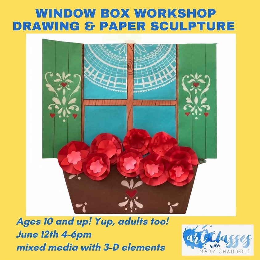 Window Box Paper Sculpture Workshop